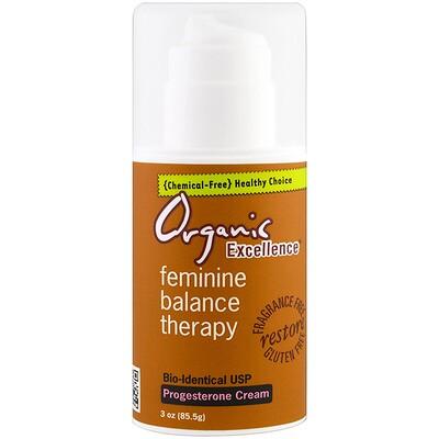 Feminine Balance Therapy, крем с прогестероном, без запаха, 85,5 г (3 унции) arnicare gel облегчение боли без запаха 120 г 4 1 унции