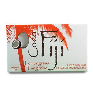 Organic Fiji, Organic Face and Body Coconut Oil Soap Bar, Lemongrass Tangerine, 7 oz (198 g)