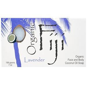 Органик Фиджи, Organic Face and Body Coconut Oil Soap Bar, Lavender, 7 oz (198 g) отзывы