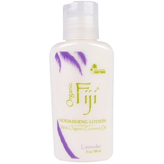 Organic Fiji, 滋養乳液有機椰子油,薰衣草,3盎司(89毫升)