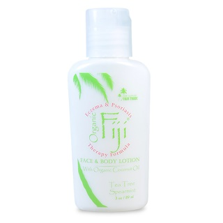 Organic Fiji, Nourishing Lotion with Organic Coconut Oil, Tea Tree Spearmint, 3 oz (89 ml)