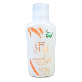 Organic Fiji, Organic Raw Oil, Cold Pressed Coconut Oil, Lemongrass Tangerine, 3 oz (89 ml)