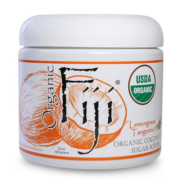 Organic Fiji, Organic Sugar Polish, Lemongrass Tangerine, 1.25 lbs (566 g) (Discontinued Item)