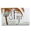 Organic Fiji, Organic Face and Body Coconut Oil Soap Bar, Pineapple Coconut, 7 oz (198 g)