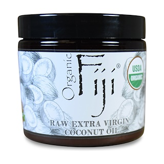 Organic Fiji, Raw Organic Coconut Oil, 13 oz (390 g)