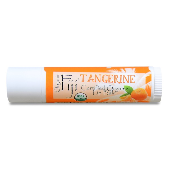 Organic Fiji, Certified Organic Lip Balm, Tangerine, 0.15 oz (4.25 g) (Discontinued Item)
