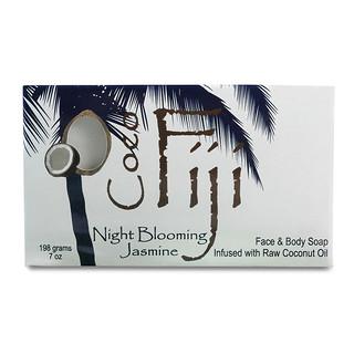 Organic Fiji, Face and Body Bar Soap, Night Blooming Jasmine, 7 oz (198 g)