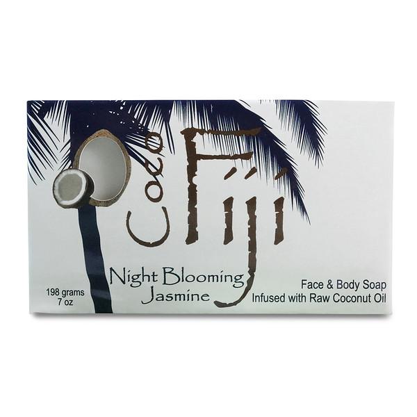 Organic Fiji, Мыло для лица и тела, цветущий ночью жасмин, 7 унц. (198 г) (Discontinued Item)