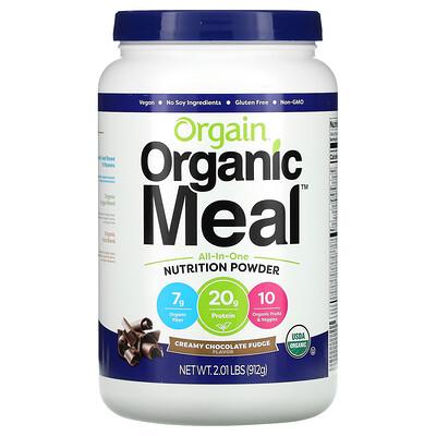 Купить Orgain Organic Meal, All-In-One Nutrition Powder, Creamy Chocolate Fudge, 2.01 lbs (912 g)