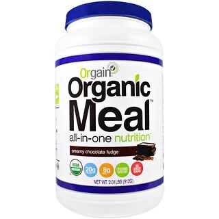 """Orgain, Органическая еда, питание """"все в одном"""", сливочный шоколадный фадж, 2,01 фунта (912 г)"""