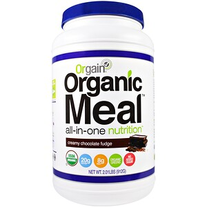 Оргаин, Organic Meal, All-In-One Nutrition, Creamy Chocolate Fudge, 2.01 lbs (912 g) отзывы