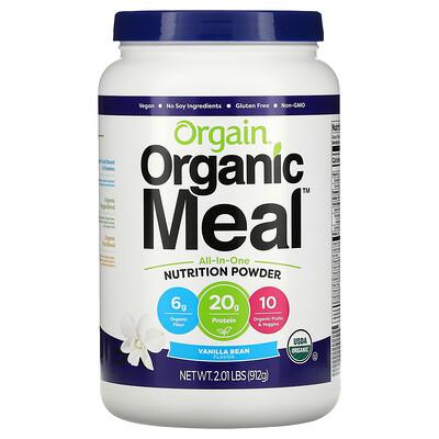 Orgain Organic Meal, All-In-One Nutrition Powder, Vanilla Bean, 2.01 lbs (912 g)