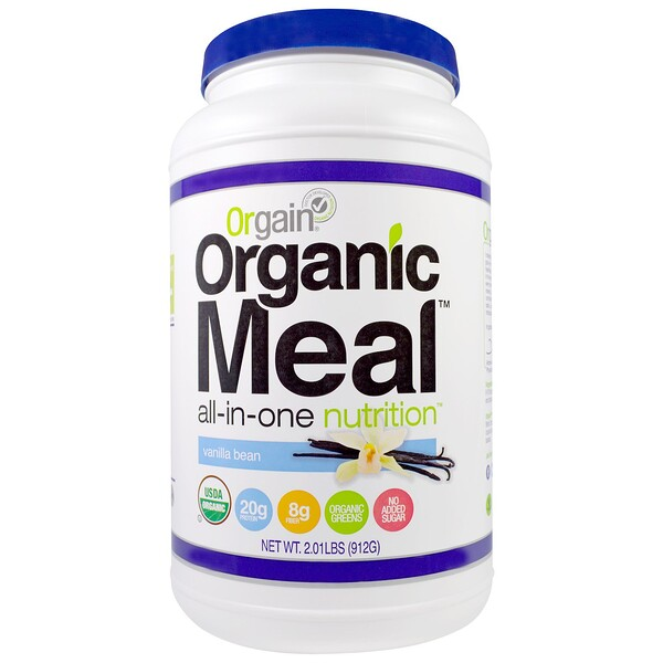 Orgain, Organic Meal, All-In-One Nutrition, Vanilla Bean, 2.01 lbs (912 g) (Discontinued Item)