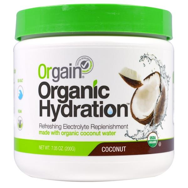 Orgain, Organic Hydration, Coconut, 7.96 oz (200 g) (Discontinued Item)
