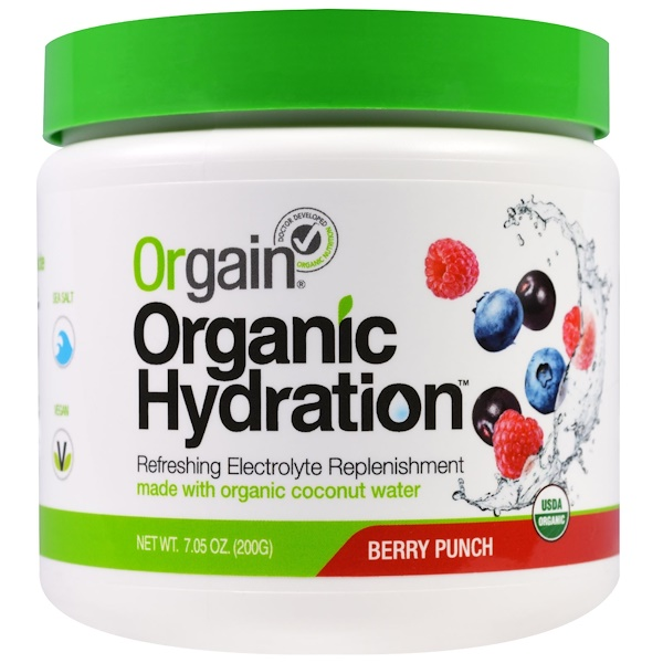 Orgain, Organic Hydration, Berry Punch, 7.05 oz (200 g) (Discontinued Item)