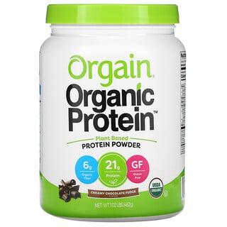 Orgain, Organic Protein Powder, Plant Based, Creamy Chocolate Fudge, 1.02 lb (462 g)