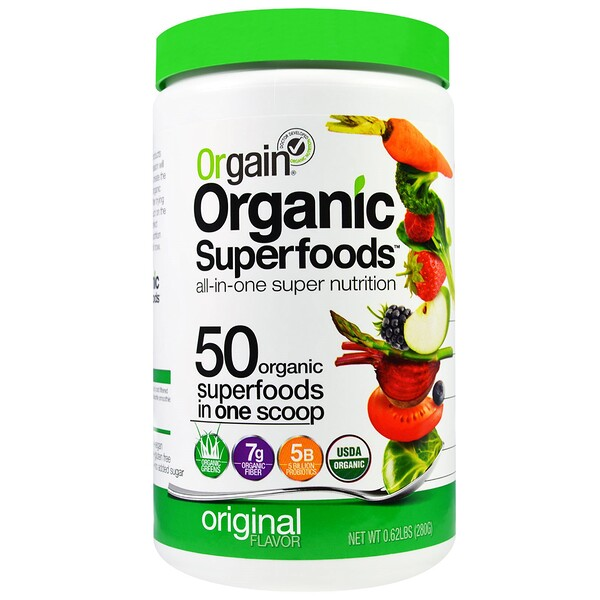 Organic Superfoods, All-In-One Super Nutrition, Original Flavor, 0.62 lbs (280 g)