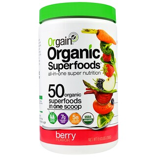 Orgain, Organic Superfoods, All-In-One Super Nutrition, Berry Flavor, 0.62 lbs (280 g)