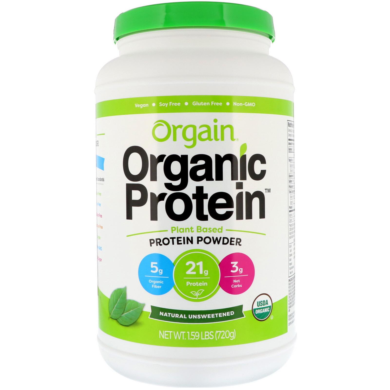 Orgain, Polvo orgánico a base de plantas de proteínas, natural sin ...
