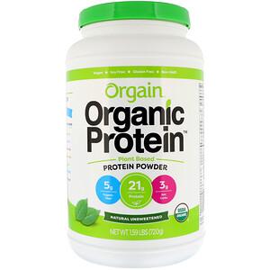 Оргаин, Organic Protein Powder, Plant Based, Natural Unsweetened, 1.59 lbs (720 g) отзывы