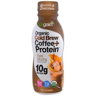 Orgain, Organic Cold Brew Coffee + Protein, Iced Mocha, 11.5 fl oz (340 ml)