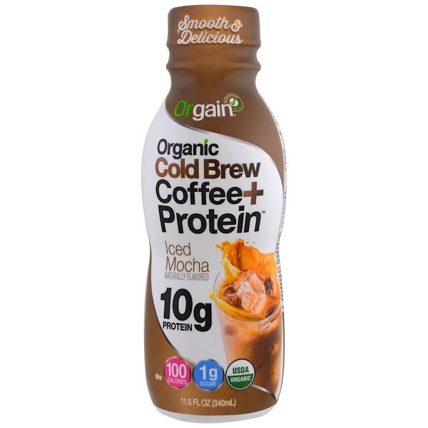 Orgain, Organic Cold Brew Coffee + Protein, Iced Mocha, 11.5 fl oz (340 ml) (Discontinued Item)