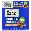 Orgain, オーガニック植物性プロテインバー、チョコレートチップクッキー生地、12本、各1.41 oz (40 g)