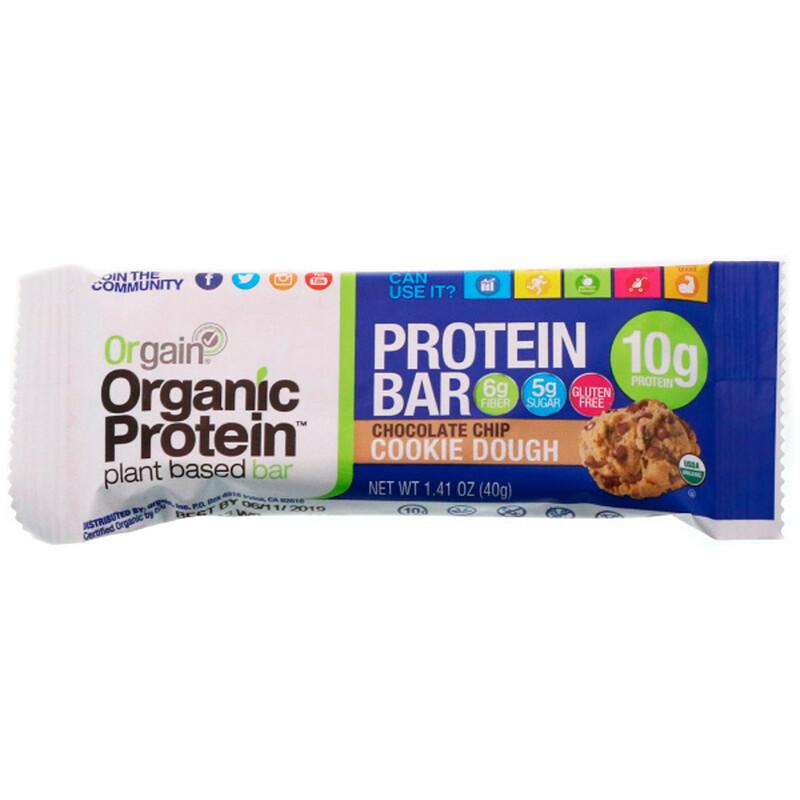 Orgain, Organic Plant-Based Protein Bar, S'mores, 12 Bars, 1.41 oz (40 g) Each - photo 3