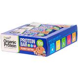 Orgain, 有機植物蛋白棒,花生醬,12 條,每條 1.41 盎司(40 克)
