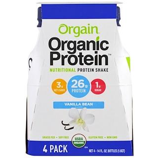 Orgain, 有機營養蛋白奶昔,香草豆味,4 包,每包 14 液體盎司(414 毫升)
