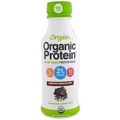 Orgain, Organic Protein Plant Based Protein Shake, Smooth Chocolate Flavor, 14 fl oz (414 ml)