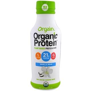 Orgain, Organic Protein Plant Based Protein Shake, Vanilla Bean Flavor, 14 fl oz (414 ml)