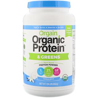 Orgain, Organic Protein & Greens Protein Powder, Plant Based, Vanilla Bean, 1.94 lbs (882 g)