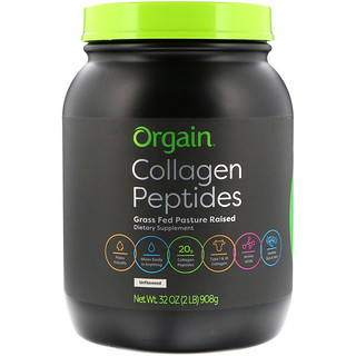 Orgain, Collagen Peptides, Unflavored, 2 lbs (908 g)