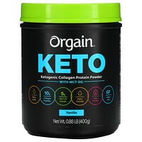 Orgain, Keto, Ketogenic Collagen Protein Powder with MCT Oil, Vanilla, 0.88 lb (400 g)