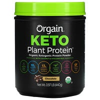 Orgain, Keto, Organic Plant Protein Powder, Chocolate, 0.97 lb (440 g)