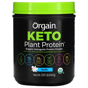 Orgain, Keto, Organic Plant Protein Powder, Vanilla, 0.97 lb (440 g)