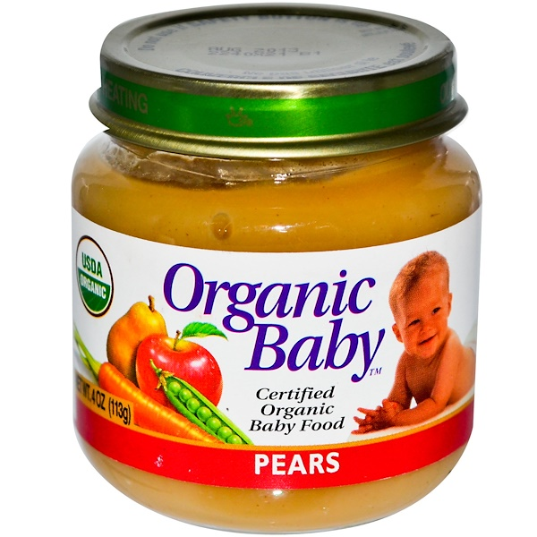 Organic Baby, Certified Organic Baby Food, Pears, 4 oz (113 g) (Discontinued Item)