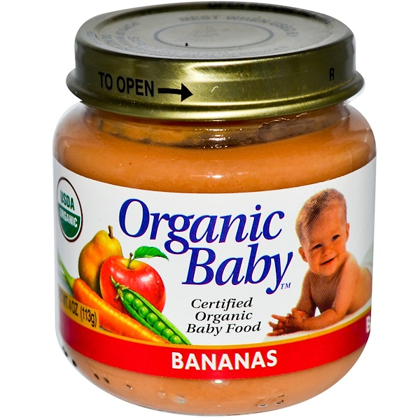 Organic Baby, Certified Organic Baby Foods, Bananas, 4 oz (113 g) (Discontinued Item)