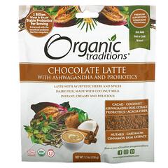 Organic Traditions, 巧克力拿鐵,含南非醉茄和益生菌,5.3 盎司(150 克)