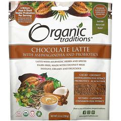 Organic Traditions, 巧克力拿鐵含南非醉茄和益生菌,5.3 盎司(150 克)