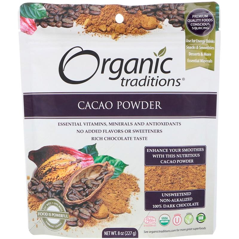 Organic Traditions, Cacao Powder, 8 oz (227 g)