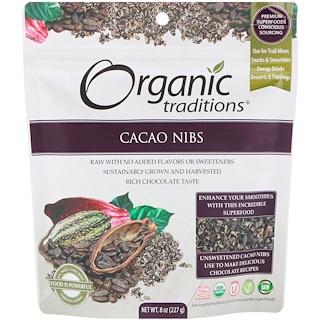 Organic Traditions, カカオニブ、227g(8 oz)