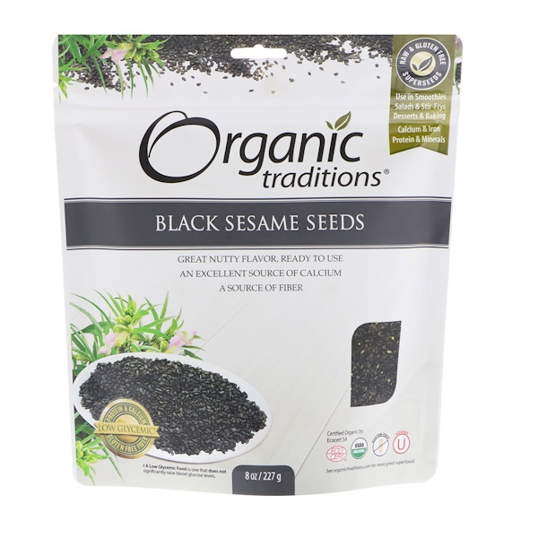 Organic Traditions, Black Sesame Seeds, 8 oz (227 g)