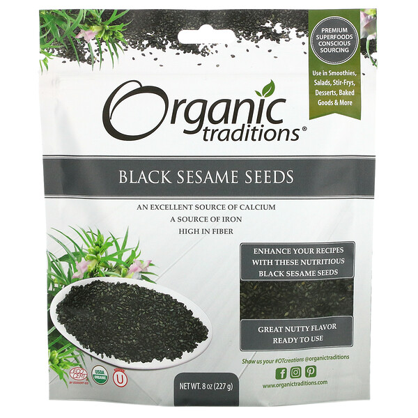 Black Sesame Seeds, 8 oz (227 g)