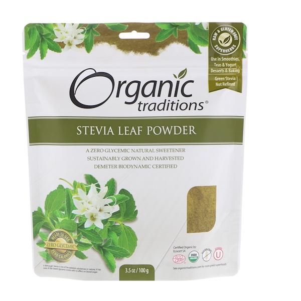 Hoja de estevia en polvo, 3,5 oz (100 g)