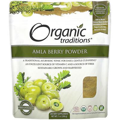 Купить Organic Traditions Amla Berry Powder, 7 oz (200 g)