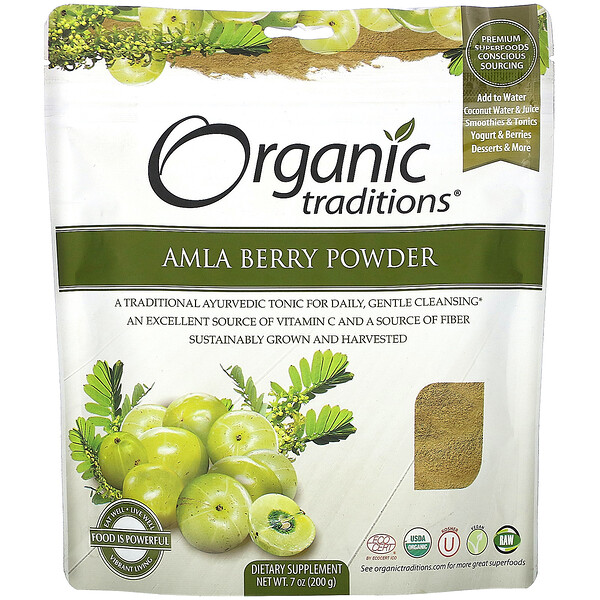 Organic Traditions, Amla Berry Powder,  7 oz (200 g)