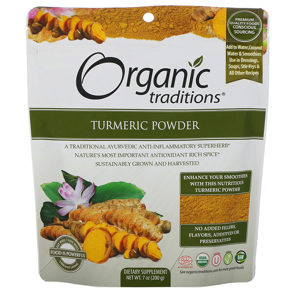 Organic Traditions, Turmeric Powder, 7 oz (200 g)