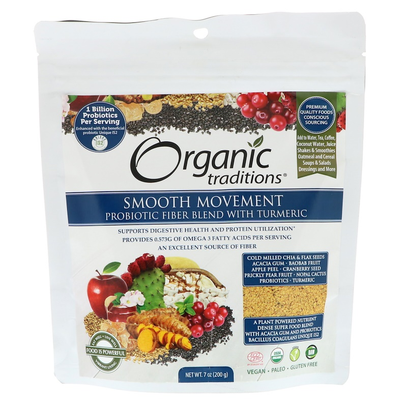 Smooth Movement, Probiotic Fiber Blend with Turmeric, 7 oz (200 g)